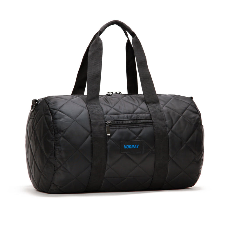 Roadie Duffel: Quilted Black Nylon