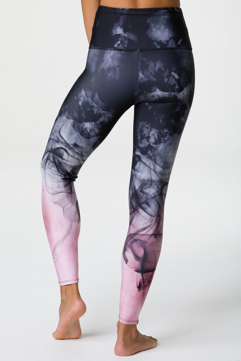 High Rise Graphic Legging: Smokey