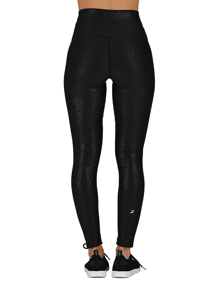 High Power Legging: Black Royal Tide