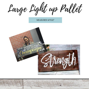 "Retail- 14""x32"" Large Light Up Pallet"