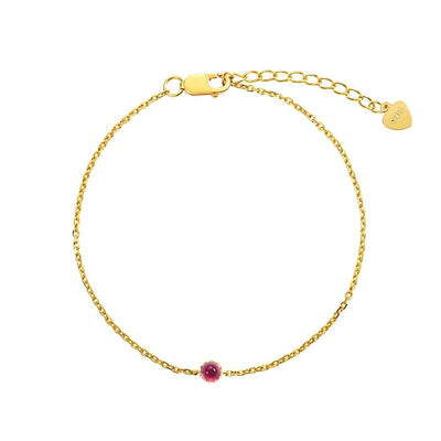 Delicate October Birthstone Tourmaline Bracelet - FANCI ME
