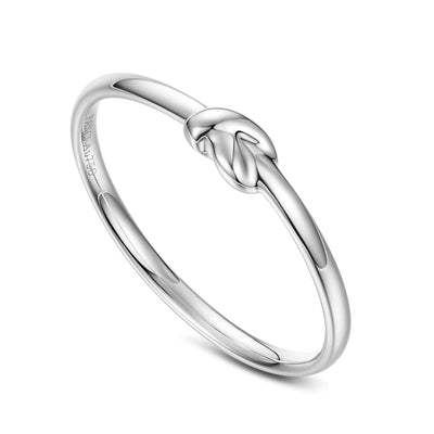 """Knot Infinitely"" 18K White Gold Band - FANCI ME"