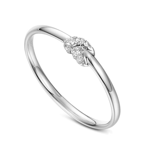"""Knot Infinitely"" 18K White Gold Diamond Band - FANCI ME"