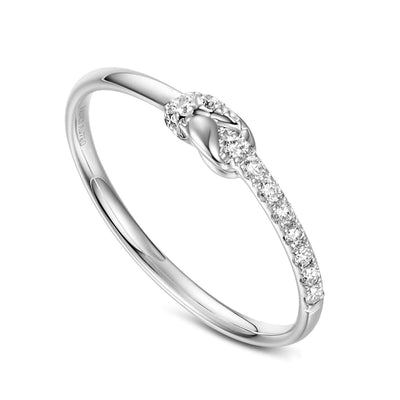 """Knot Significantly"" 18K White Gold Diamond Band - FANCI ME"