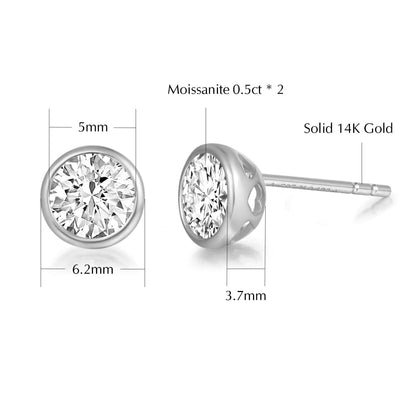 """Bright Tango"" 14K Yellow Gold Butterfly Studs - FANCI ME"