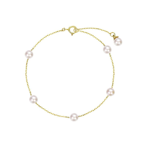 Akoya 14K Yellow Gold Pearl Bracelet - FANCI ME