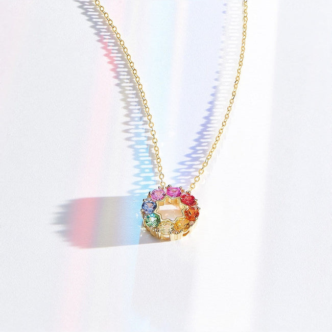 """Rainbow Flower"" Necklace - FANCI ME"