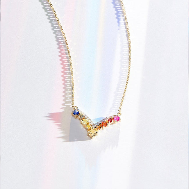 """Rainbow Ruffle"" Necklace - FANCI ME"