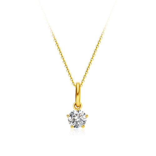 Delicate April Birthstone Diamond Necklace