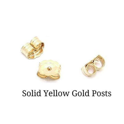 18K Solid Gold Stud Earring Push Backings (2 PC)