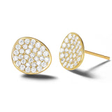 White Petal Gold Vermeil Stud Earrings - FANCI ME