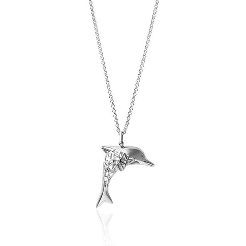 Customizable 3D Printed Dolphin Pendant Necklace - FANCI ME