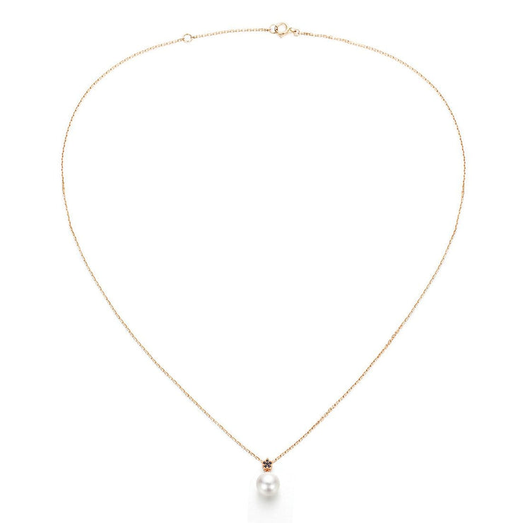 "The ""Starry Night"" Akoya Pearl Pendant 18k Gold Necklace - FANCI ME"