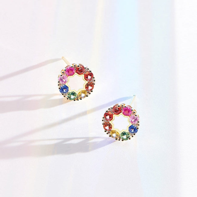 """Rainbow Flower"" Studs - FANCI ME"
