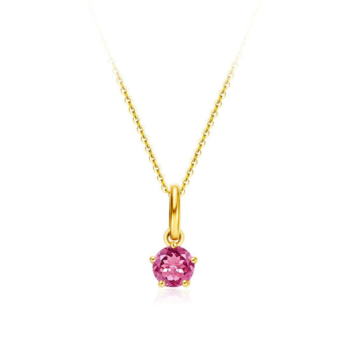 Delicate October Birthstone Tourmaline Necklace