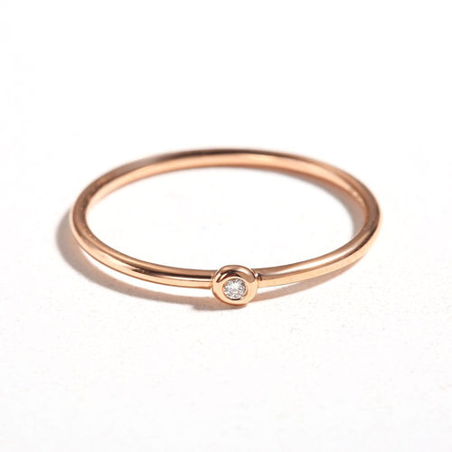 Line&Dots 18k Pink Gold Stackable Rings - FANCI ME