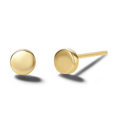 Tiny Dot 14K Solid Gold Stud Earrings - FANCI ME