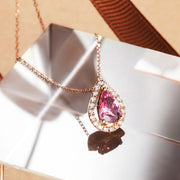 "Le Petit Royal ""Michelle"" Pink Tourmaline Pendant Necklace - FANCI ME"