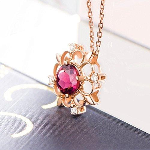 "Le Petit Royal ""Victoria"" Pink Tourmaline Pendant Necklace - FANCI ME"