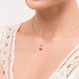 Fancy Pink Tourmaline Ring Crown Necklace - FANCI ME