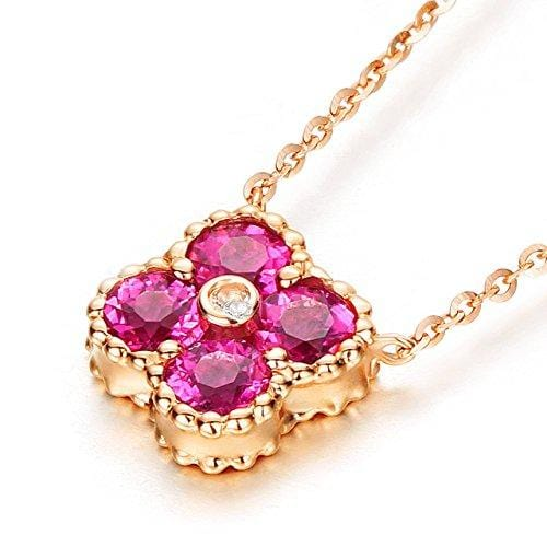 "Le Petit Royal ""Natalia"" Pink Tourmaline Pendant Necklace - FANCI ME"