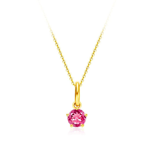 Delicate July Birthstone Ruby Necklace - FANCI ME