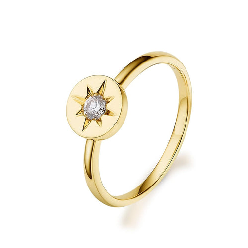 18K Yellow Gold Diamond Hope Ring - FANCI ME