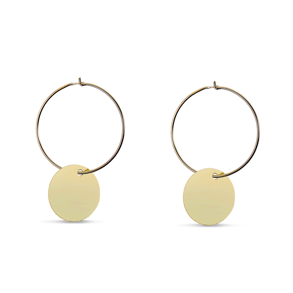 Plate Sleeper Yellow Gold Earring by Ace-Picked, Free Shipping ...