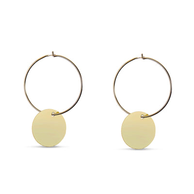 Plate Sleeper Yellow Gold Earring - FANCI ME