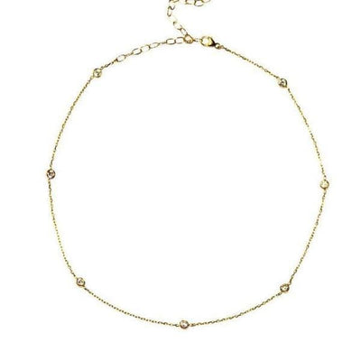 14K GOLD DIAMOND NECKLACE - FANCI ME