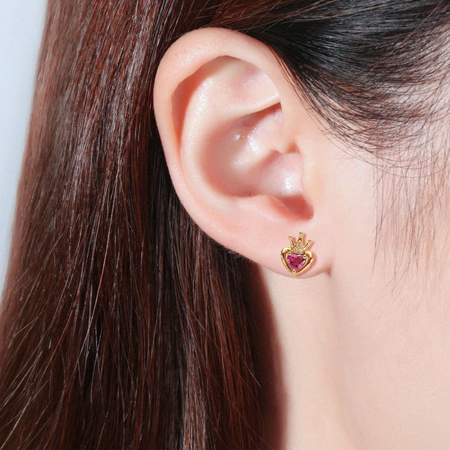 Queen Crown Rose Gold Earring Studs - FANCI ME