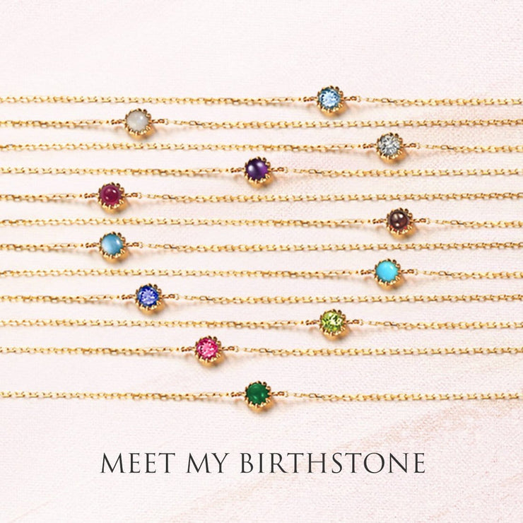 Delicate May Birthstone Emerald Bracelet - FANCI ME