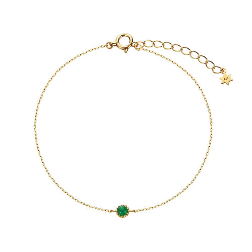 Delicate May Birthstone Emerald Bracelet