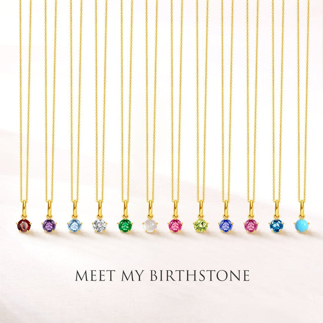 Delicate March Birthstone Aquamarine Gold Necklace