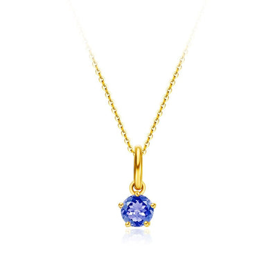 Delicate September Birthstone Sapphire Necklace - FANCI ME