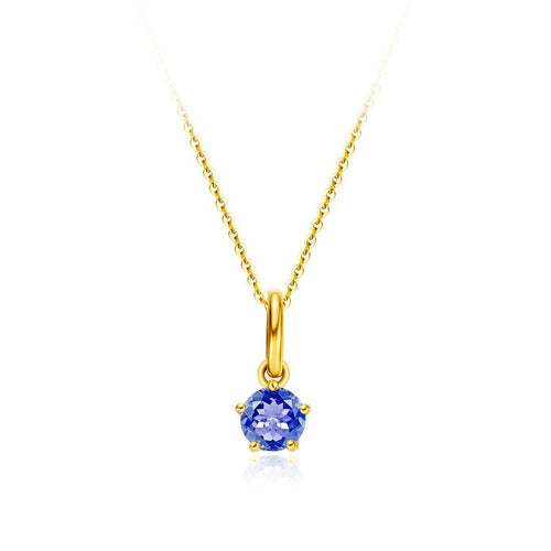 Delicate September Birthstone Sapphire Necklace