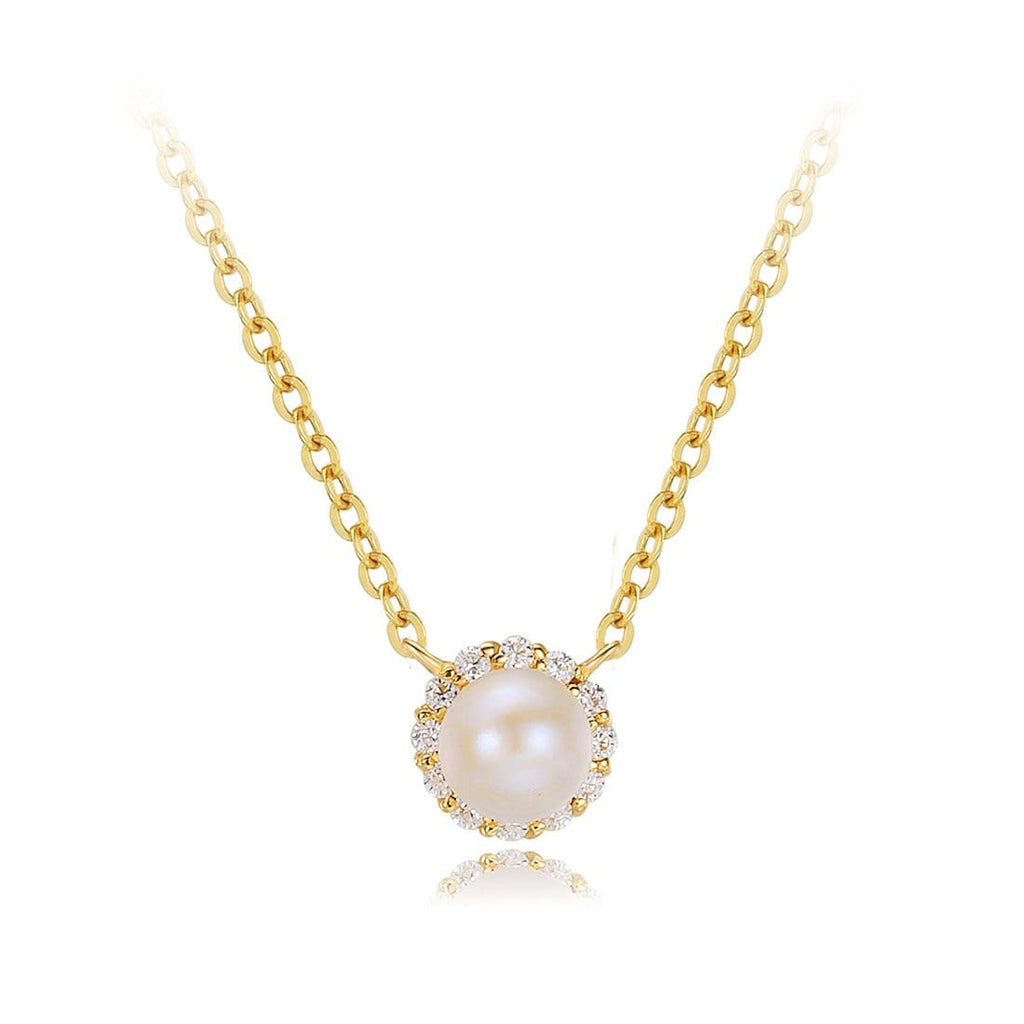 Ava halo pearl pendant necklace ava halo pearl pendant necklace acepicked aloadofball Gallery
