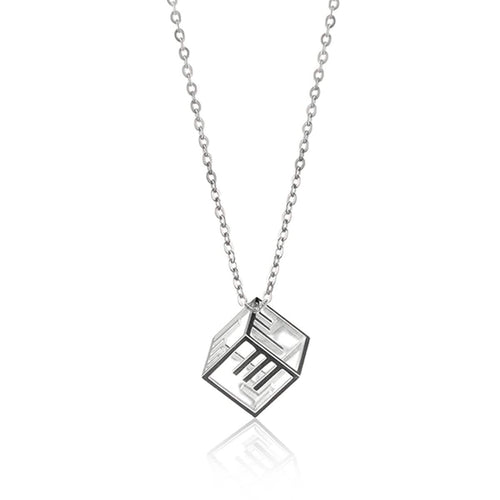Morse Code Customizable Cubic Pendant