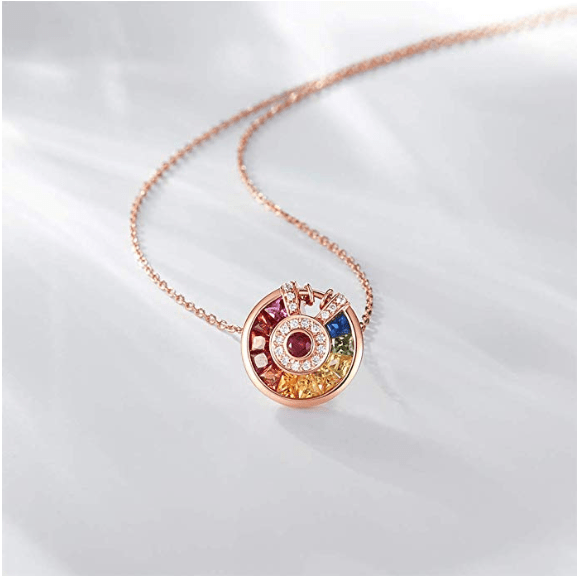 """Rainbow Lock"" Necklace - FANCI ME"