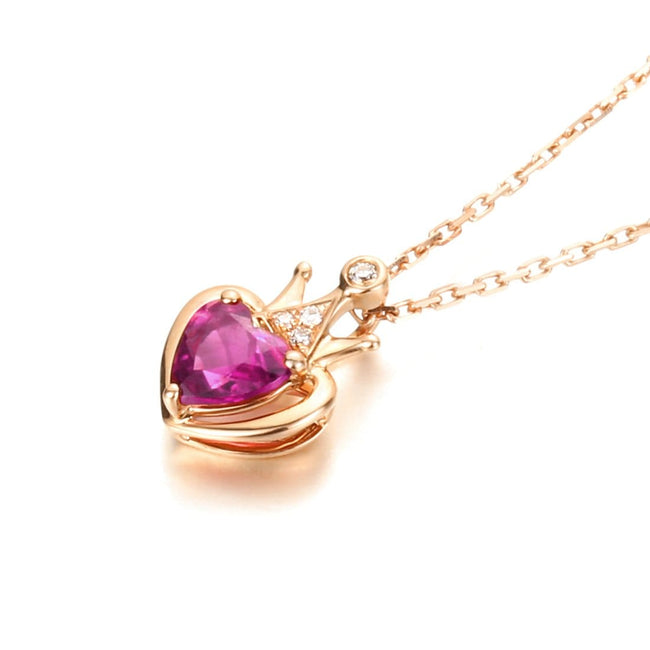 Queen Crown 18K Rose Gold Necklace