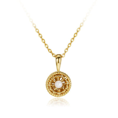 "Le Petit Royal ""Daisy"" Pearl Pendant Necklace - FANCI ME"