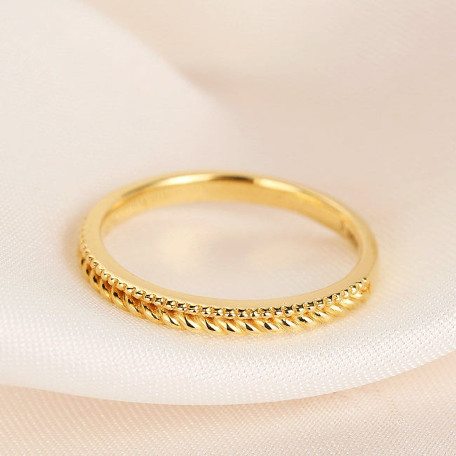 """Evan"" Stackable Gold Band"