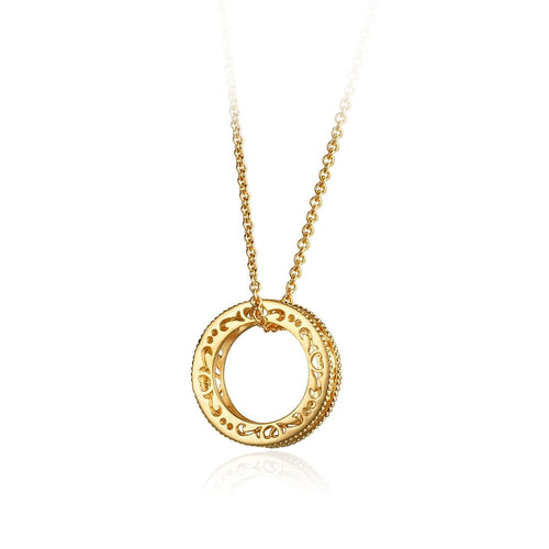 """Shannon"" Gold Pendant Necklace"