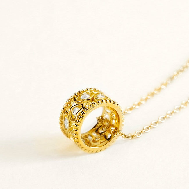 "La Petit Royal ""Kelly"" Gold Pendant Necklace"