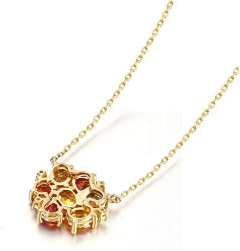 """Love Before Sunset"" 18K Natural Multicolor Stones and Diamond Necklace - FANCI ME"