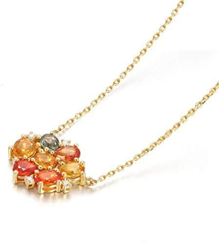 """Love Before Sunset"" 18K Natural Multicolor Stones and Diamond Necklace"