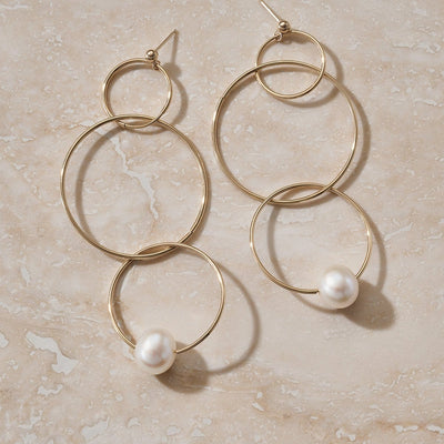 "LUNA ""ECLIPSE"" GOLD HOOP EARRING - FANCI ME"