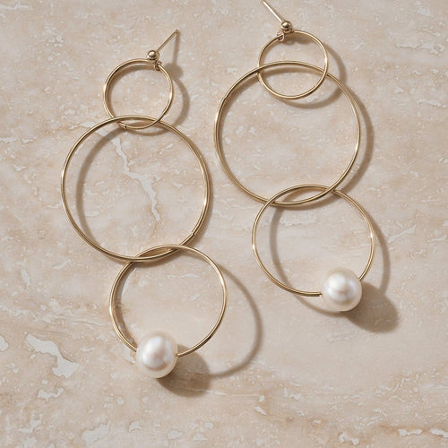 "LUNA ""ECLIPSE"" GOLD HOOP EARRING"