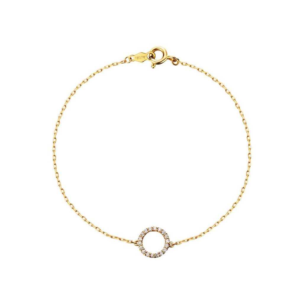 Linedots circle of love diamond pendant bracelet acepicked linedots circle of love diamond pendant bracelet aloadofball Images