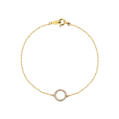 Line&Dots Circle of Love Diamond Pendant Bracelet - FANCI ME